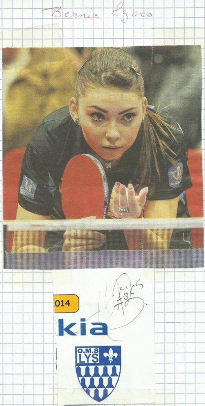 il sagit de la championne de tennis de table agee de 18 ans  nee le 5/3/1995   bernadette ( bernie )  szocs