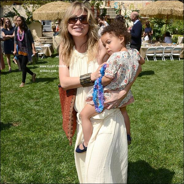 """. Le 05 Mai 2012 -   Ellen et sa fille Stella étaient au """"Baby2Baby"""" à Beverly Hills. ."""