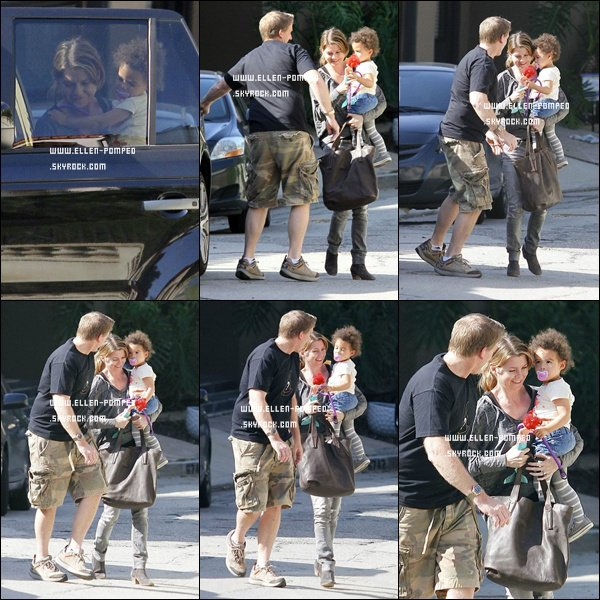 . Le 20 Février 2012-  Ellen et sa fille Stella ont été vue rendant visite à un ami à Hollywood.