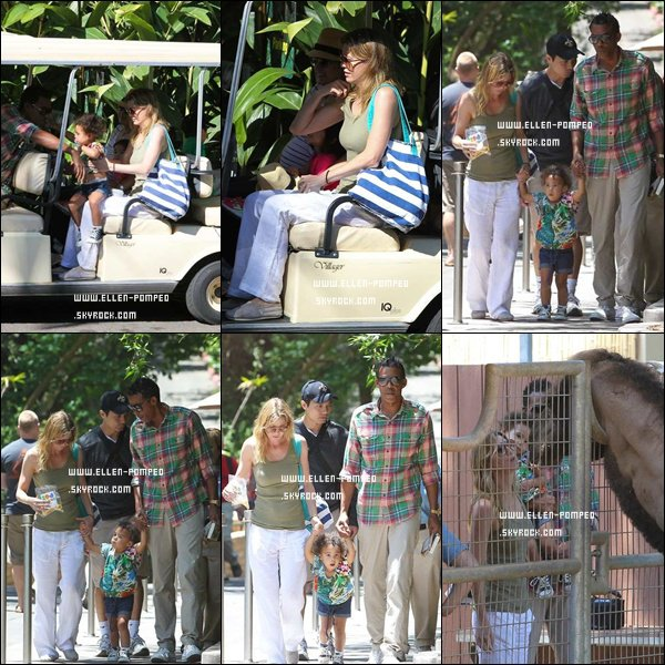 """. Le 16 Juillet 2012 -   Ellen quittant le magasin """"Erewhon Market"""" à Los Angeles."""
