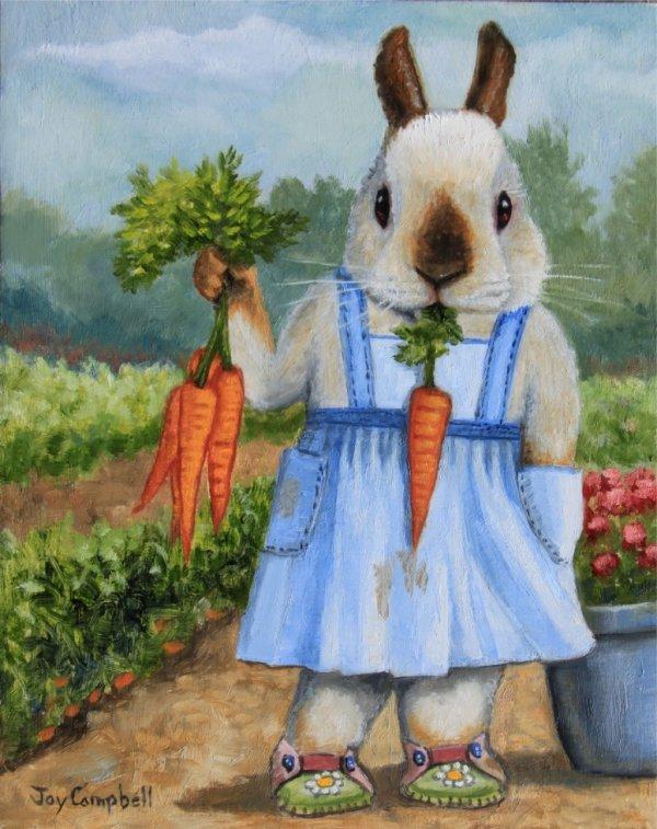 une lapine plutôt drôle