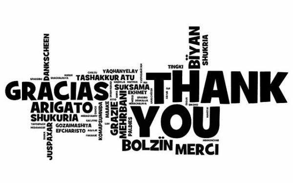 merci dans toute les langues