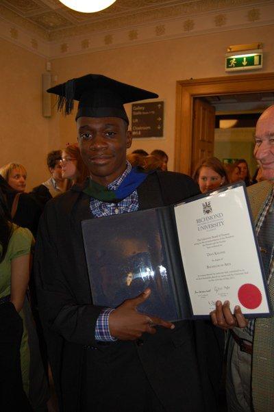 my bro's diploma