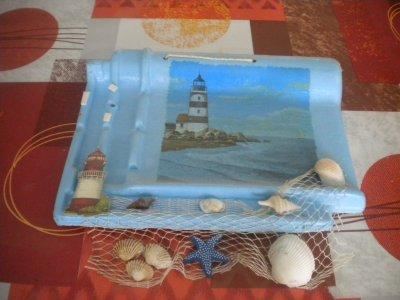 peinture sur ardoise theme mer