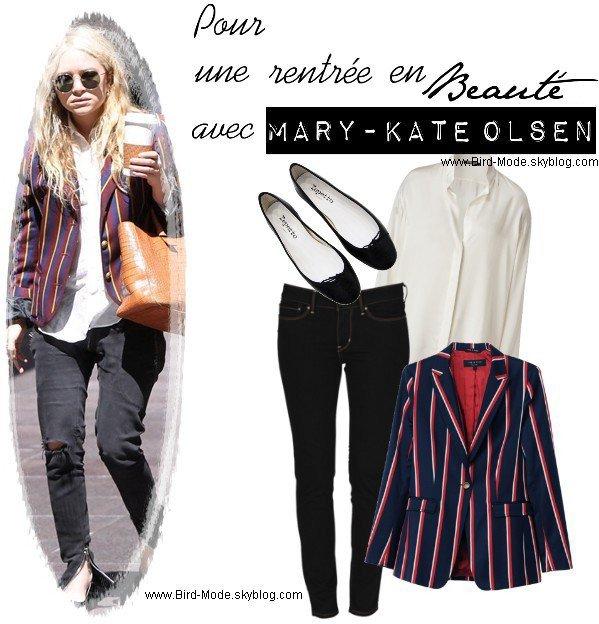 ZOOM sur un look de Mary-Kate Olsen
