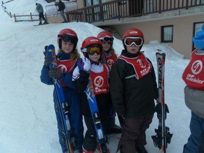 Première leçon de ski