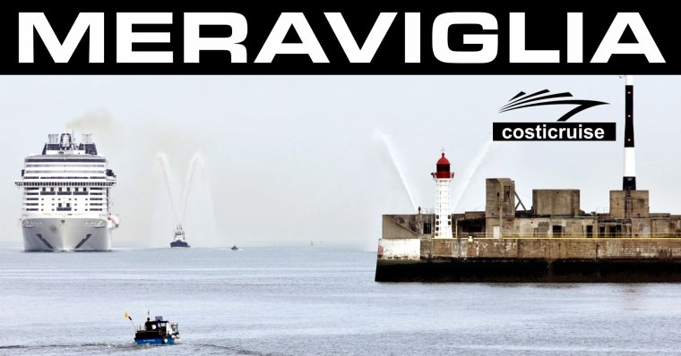 MSC MERAVIGLIA   Arrivée au HAVRE