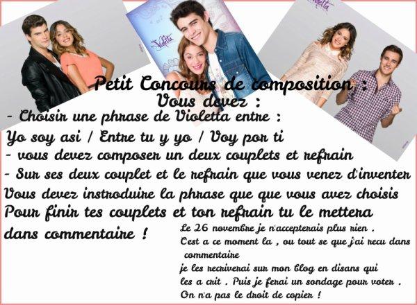 Concours de Composition de Violetta !