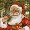 Beau Père Noel offert par mon amie Romantic-Glamour sur son calendrier de l'avent.