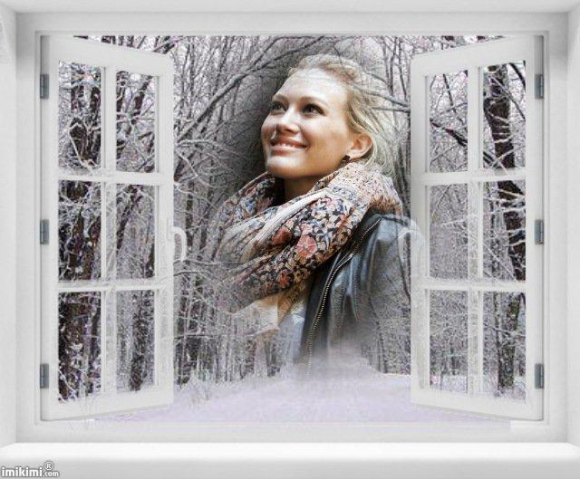 Fenêtre sur l'hiver.