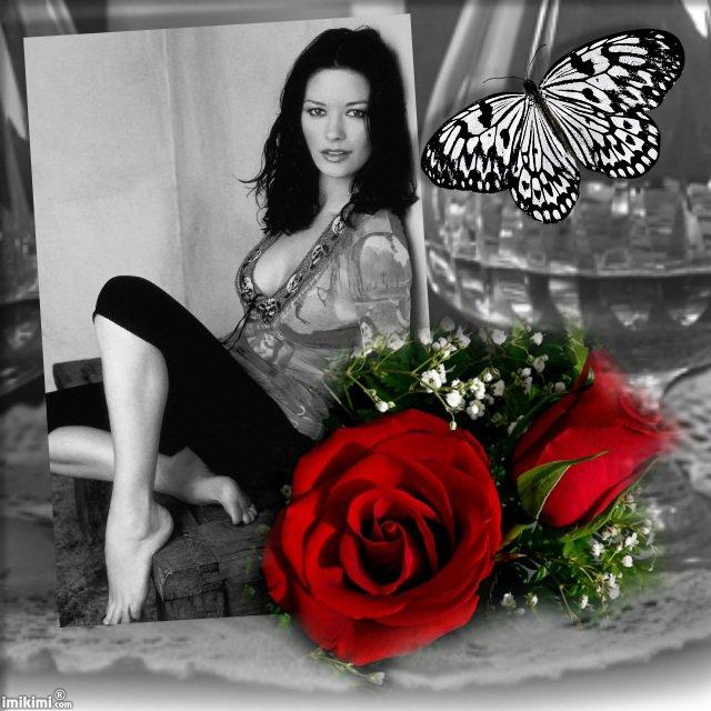 Le papillon et la rose.
