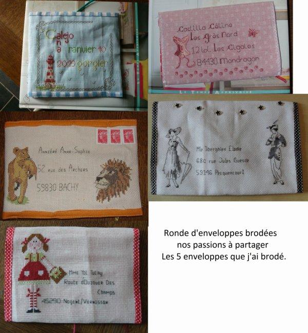 Ronde d'enveloppes nos passions à partager