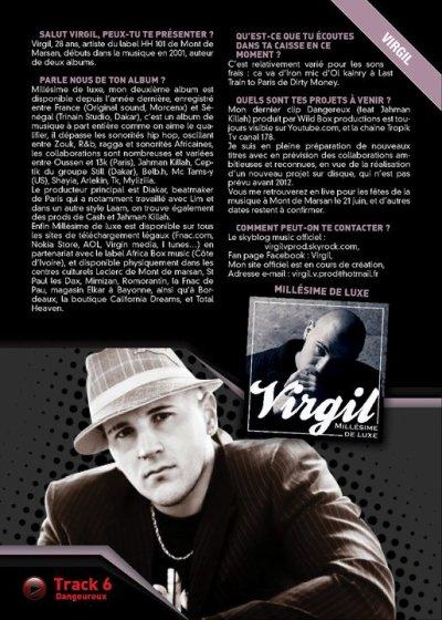 VIRGIL DANS SKEUDI MAG  numéro d' avril/mai 2011