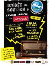 VIRGIL ET 3 NATIONS EN LIVE LE SAMEDI 14 JANVIER AU CAFE MUSIC (Mont de marsan)