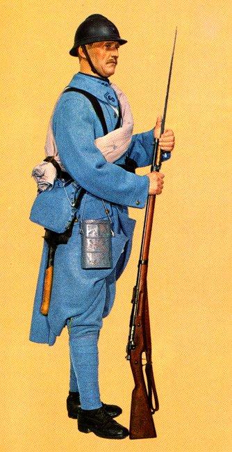 L'uniforme du poilu de 1915.