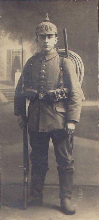 Le fantassin allemand de 1914.