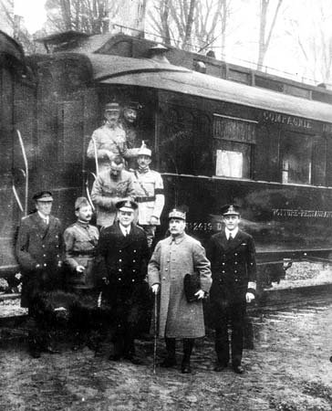 Le 11 novembre 1918. L'armistice est signée.