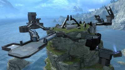 voil la map pinnacle dans halo reach  j'adore cette map