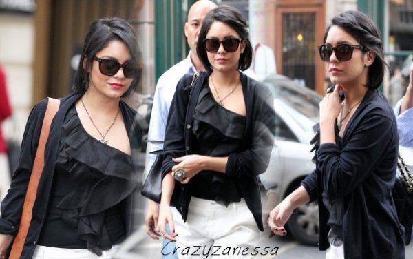 14/02/12-  Vanessa fait du shopping chez Chanel et Point Plume à Paris