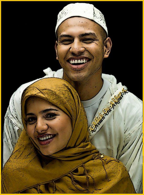 Une femme est belle que dans le Halal .. && un homme est digne que dans le Dine !