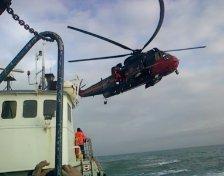 un helico en plaine mer