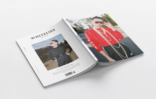 Bill en couverture de Whitelies Magazine