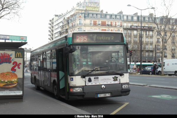 bus 295 agora s 2 vf n 7401 de la ligne 394 les buses et m tros de paris. Black Bedroom Furniture Sets. Home Design Ideas