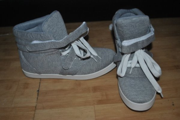 the cheap  grey shoes