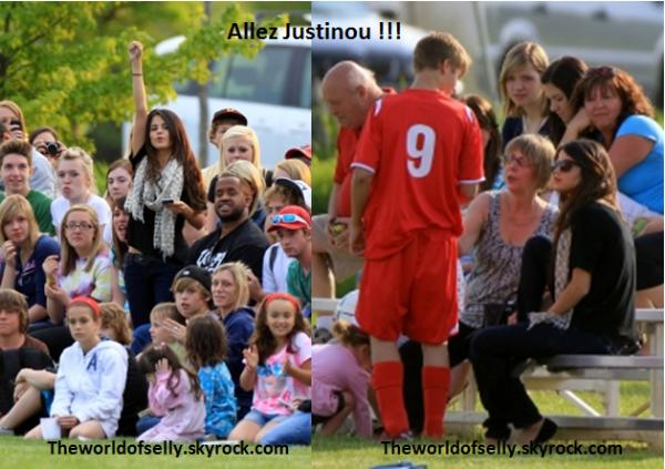 Selena supportait Justin pendant son match de foot.