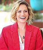 """I've added photos of Joy visiting Hallmark's """"Home and Family""""."""