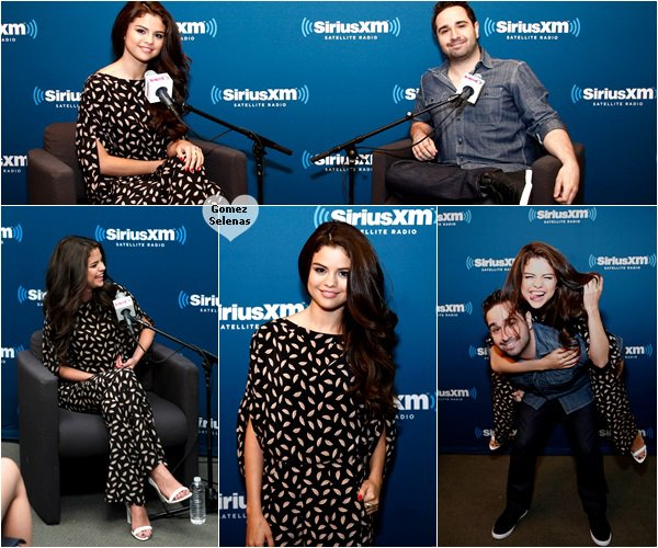 """*   29.06.13 - Selena était à une émission radio pour la promo de """"Stars Dance"""" à New York*"""