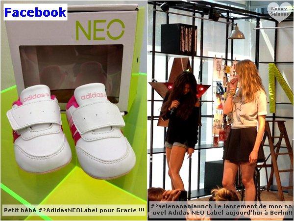 *   09.07.13 - Selena a participé au lancement du nouveau magasin Adidas Neo à Berlin.Découvrez aussi un nouveau photoshoot pour la promo ainsi que deux publicités : #1 et #2. Promo réussie! *