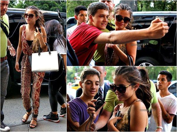 """*   21.08.13 - Selena G a fait la promotion de """"GetAway"""" avec sa co-star (Ethan Hawke), à N.Y. Découvrez aussi les premiers Stills du film et les 2 trailers. La bande annonce devrait arrivée bientôt..  Sinon, tu aimes bien?! :) *"""