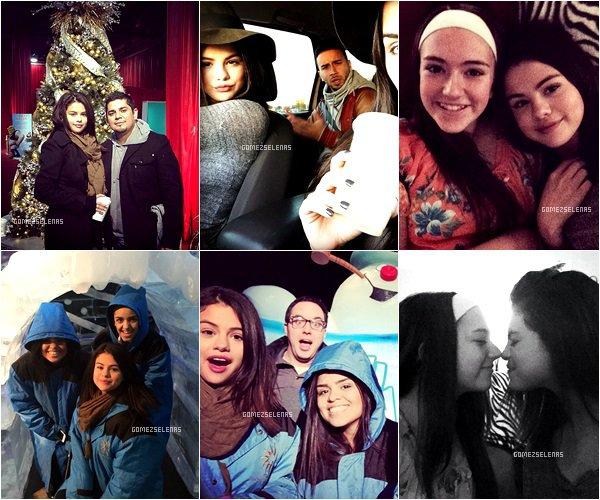 *   27.11.14 - Selena Gomez a passé la journée de fête de Thanksgiving avec sa famille au Texas.  *