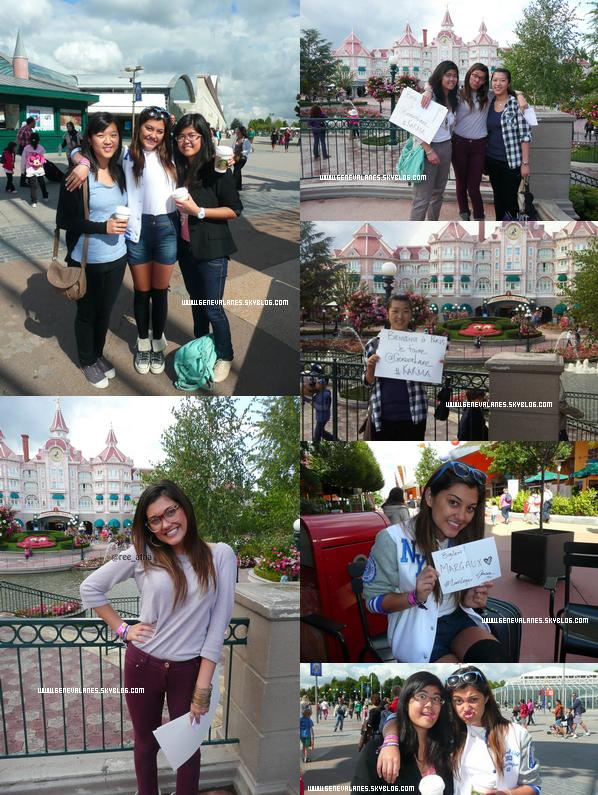 .                                                                                                                                                                                                    28.08.11 & 29.08.11 GenGen est actuellement à Disney Land Paris jusqu'à Mardi. Deux fans ( @ree_atha et @_Monniica_ ) ont eu la chance de la rencontrer. J'espère qu'elles ont passé une bonne journée.! Niveau look, j'aime beaucoup ses tenues.                                                                                                                                                                                   .