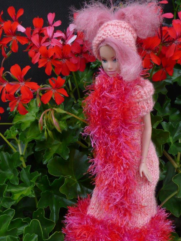 Tenus rose, pour accompagner les magnifiques géranium de ma mamy !