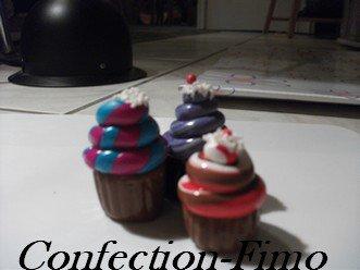 Porte-clefs cupcakes