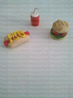 hamburger, hot dog et soda
