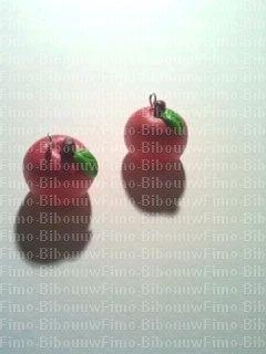 Boucle d'oreille pommes