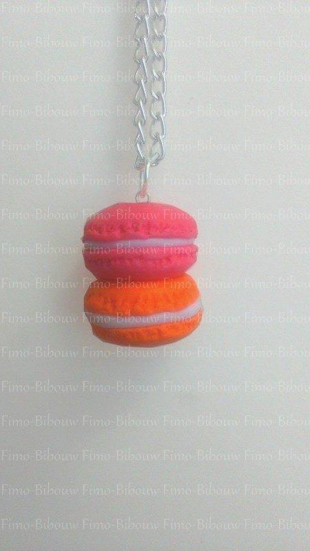Macaron rose et orange