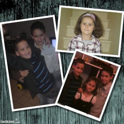 ma filleule et mes deux cousin