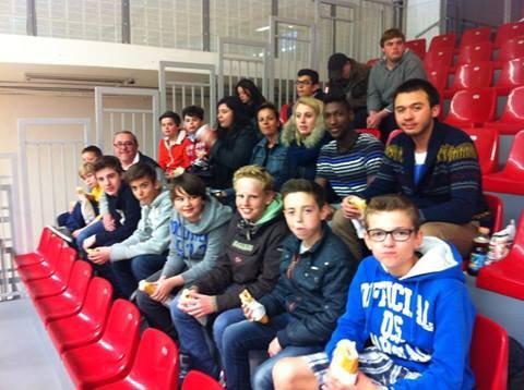 Les minimes  au Palais ST Sauveur: Lille MBC  79 vs Rouen 66