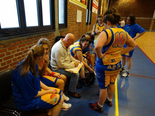 seniors féminines vs pevelle BC  et résultat du 12 novembre 2014