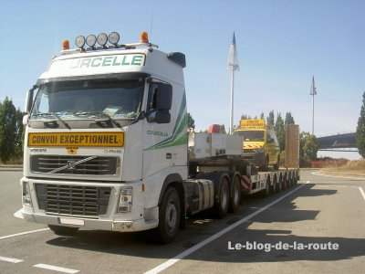 Volvo, convoi execptionnel.