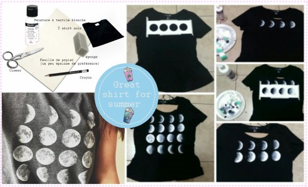 〖DIY Moon TShirt〗☾