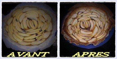 tarte aux pommes et nutella