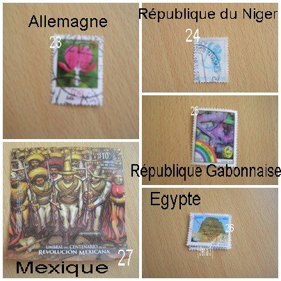 Les doubles de timbres