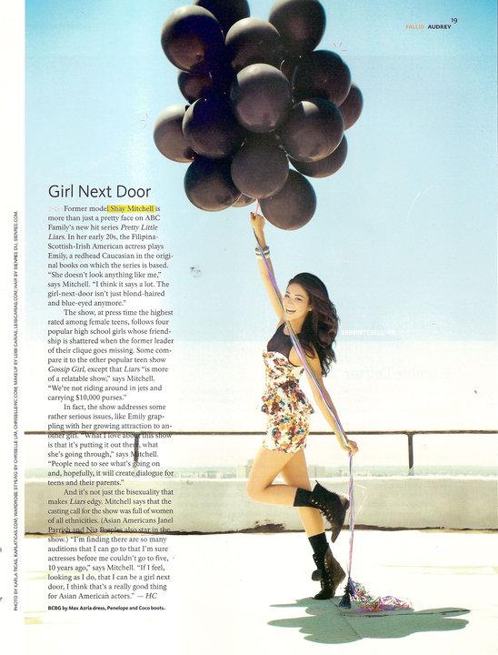 Photoshoot Audrey Magazine~Shay apparait en page du magazine Audrey Magazine.