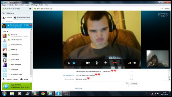 Les skypes avec mon amoureux !