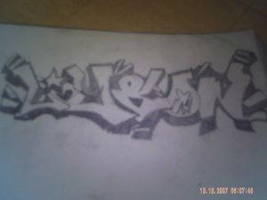 dessin de tag que jai fait ecrit ly&on mis 3h50